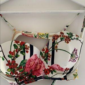 Anthropologie floral underwire swim top NWOT